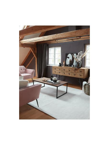 Aparador cajonera Six, con 6 cajones, Estructura y cajon: madera de abeto, efecto e, Patas: hierro pintado, Madera de abeto, gris antracita, An 150 x F 40 cm