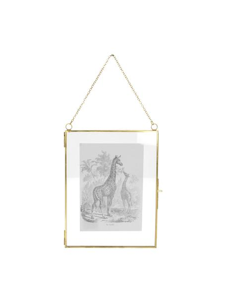 Portafoto da parete ottonato Linetti, Ottone, 13 x 18 cm