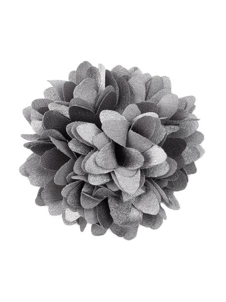 Deko-Blumen Flor, 6 Stück, Polyester, Grau, Ø 6 cm