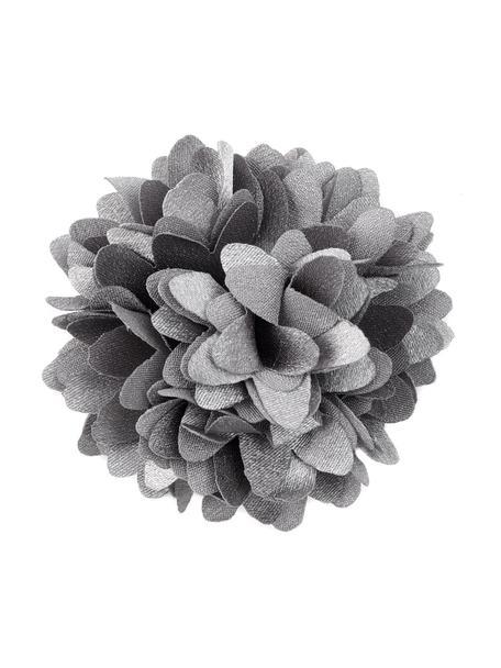 Kwiat dekoracyjny, 6 szt., Poliester, Szary, Ø 6 cm