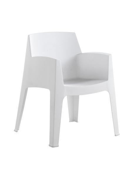 Sedia con braccioli da esterno Master 2 pz, Materiale sintetico, Bianco, Larg. 67 x Prof. 60 cm
