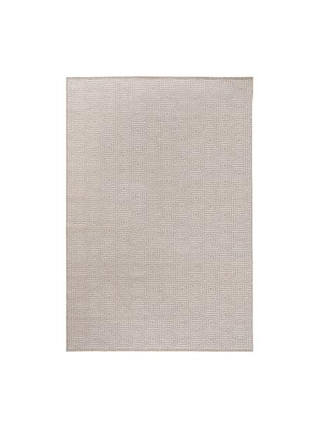 Wollteppich Jacob mit grafischem Muster in Beige/Hellgrau, 70% Wolle, 30% Viskose, Hellgrau, Beige, B 120 x L 170 cm (Größe S)