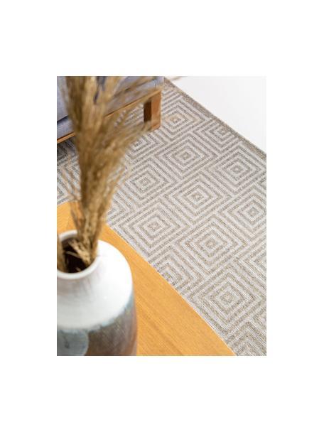 Alfombra de lana Jacob, 70%lana, 30%viscosa Las alfombras de lana se pueden aflojar durante las primeras semanas de uso, la pelusa se reduce con el uso diario, Gris claro, beige, An 120 x L 170 cm (Tamaño S)