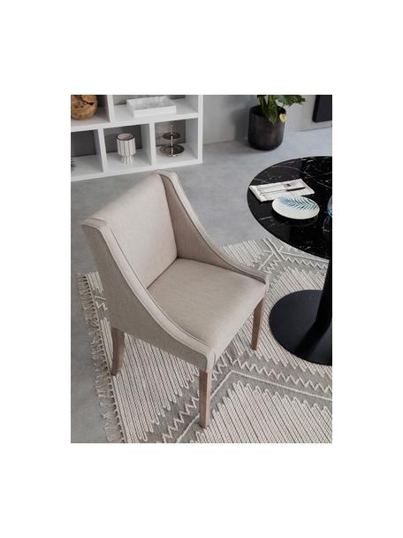 Krzesło tapicerowane Savannah, Tapicerka: 100%poliester 49 00 cyk, Nogi: lite, lakierowane drewno , Tapicerka: beżowy Nogi: drewno bukowe, S 60 x G 60 cm