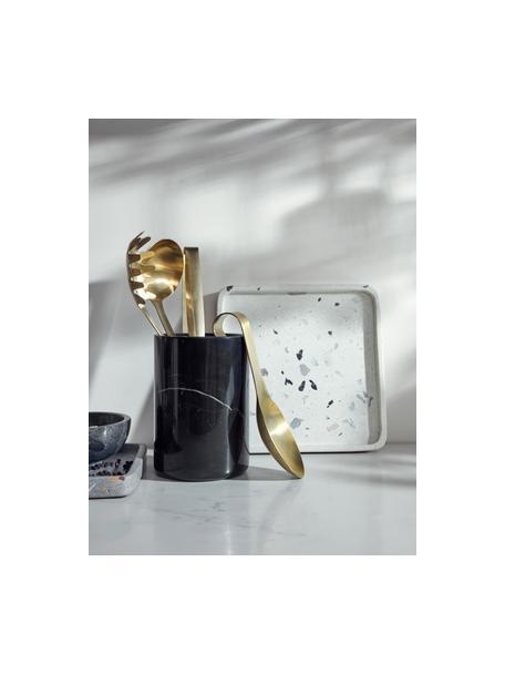 Podkładka pod łyżkę Goldies, Stal szlachetna, Odcienie mosiądzu, matowy, S 8 x D 24 cm