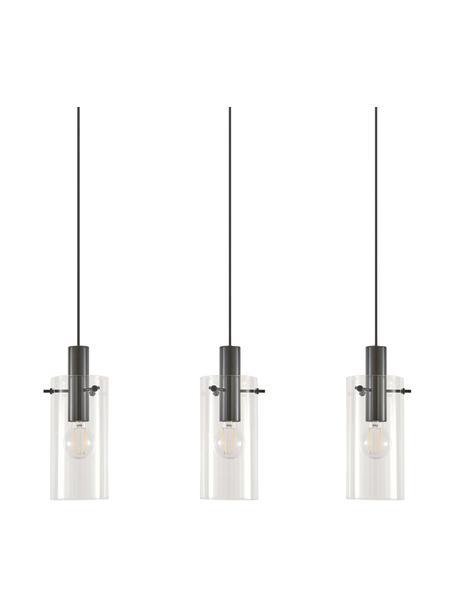 Hanglamp Olga, Baldakijn: gepoedercoat metaal, Zwart, 71 x 110 cm