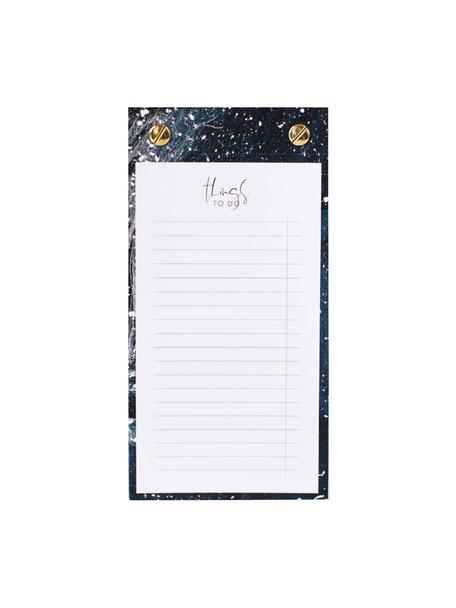 Blocco appunti To-Do, Blu scuro, dorato, bianco, Larg. 10 x Alt. 19 cm