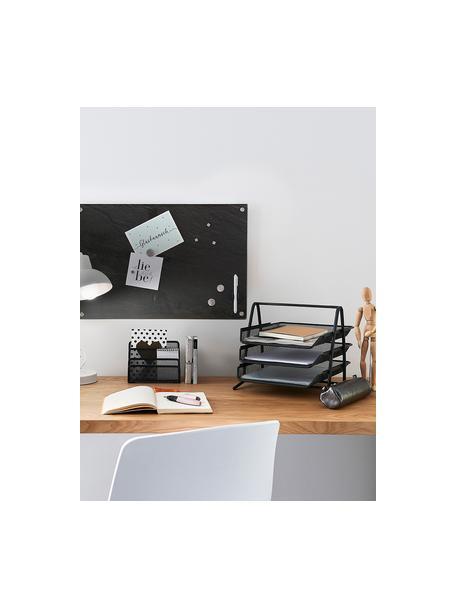 Documentenhouder Mesh, Gelakt metaal, Grijs, 36 x 30 cm