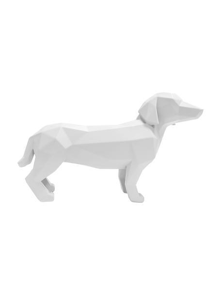 Figura decorativa Origami Dog, Plástico, Blanco, An 30 x Al 21 cm