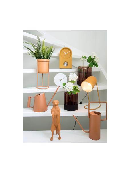 Kleine retro tafellamp Enchant in mosterdgeel, Lampenkap: gecoat metaal, Lampvoet: gecoat metaal, Okergeel, Ø 18 x H 30 cm