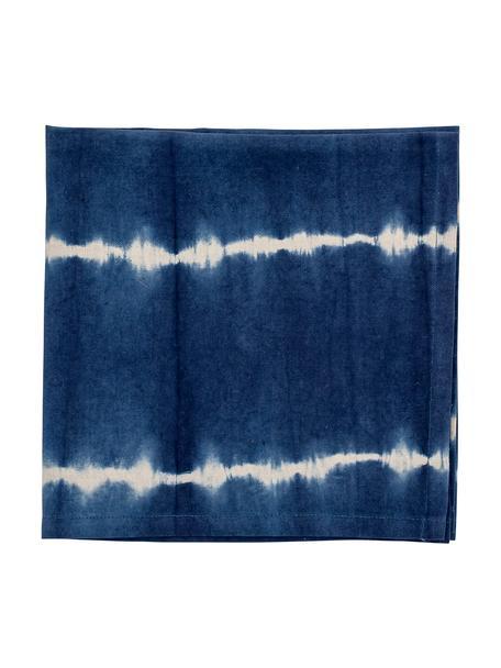 Stoffen servetten Alston in batik-look, 4 stuks, Katoen, Blauw, 45 x 45 cm