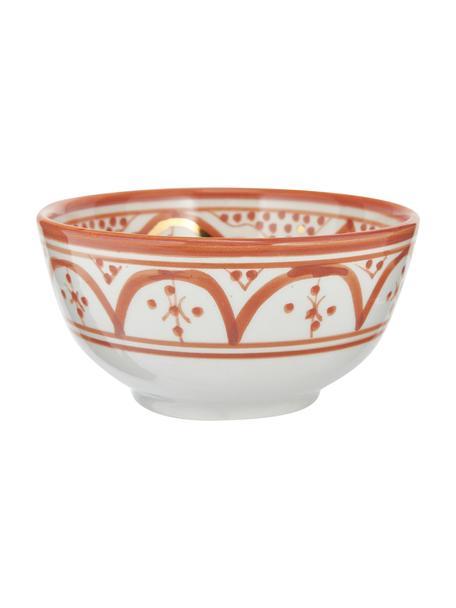 Cuenco artesanal Moyen, estilo marroquí, Cerámica, Naranja, crema, oro, Ø 15 x Al 9 cm
