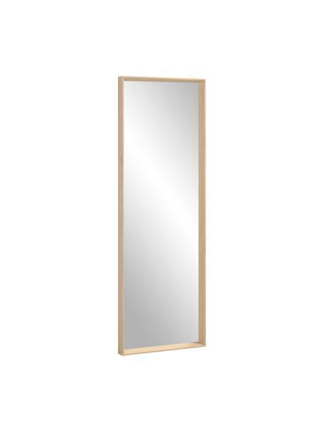 Specchio da parete con cornice in legno Nerina, Cornice: legno, Superficie dello specchio: lastra di vetro, Beige, Larg. 52 x Alt. 152 cm