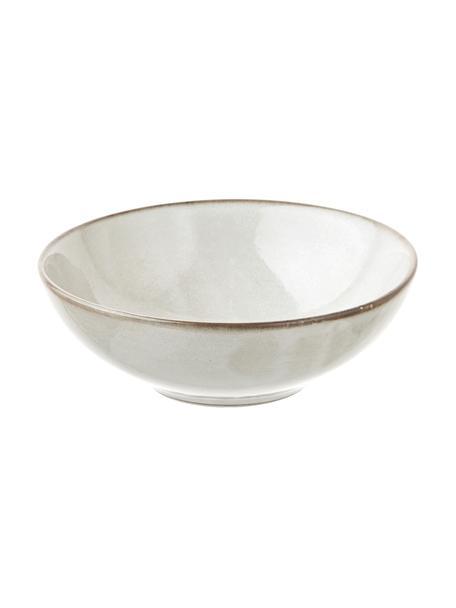 Handgemaakte keramische kommen Thalia in beige, 2 stuks, Keramiek, Beige, Ø 18 x H 6 cm