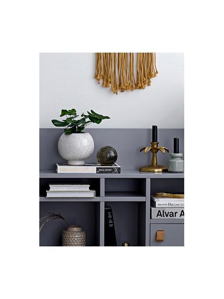 Kandelaar Palmtree, Gelakt aluminium, Goudkleurig, Ø 13 x H 12 cm