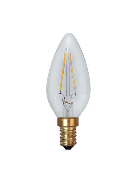 Bombillas E14, 1.5W, blanco cálido, 2uds., Ampolla: vidrio, Casquillo: aluminio, Transparente, Ø 4 x Al 10 cm