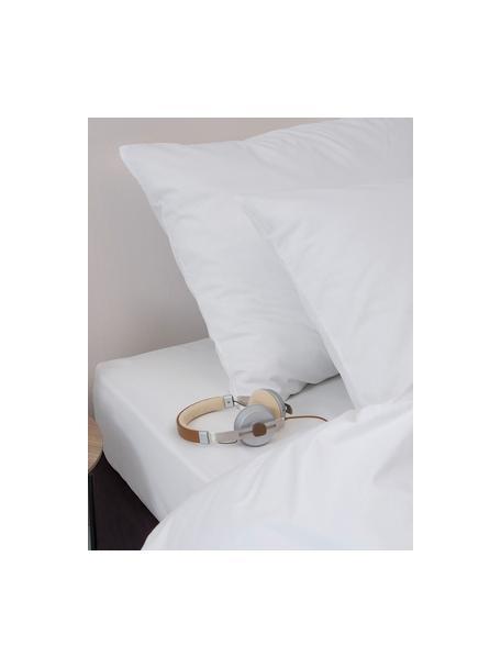 Baumwoll-Bettwäsche Weekend in Weiss, 100% Baumwolle Fadendichte 145 TC, Standard Qualität Bettwäsche aus Baumwolle fühlt sich auf der Haut angenehm weich an, nimmt Feuchtigkeit gut auf und eignet sich für Allergiker., Weiss, 135 x 200 cm + 1 Kissen 80 x 80 cm