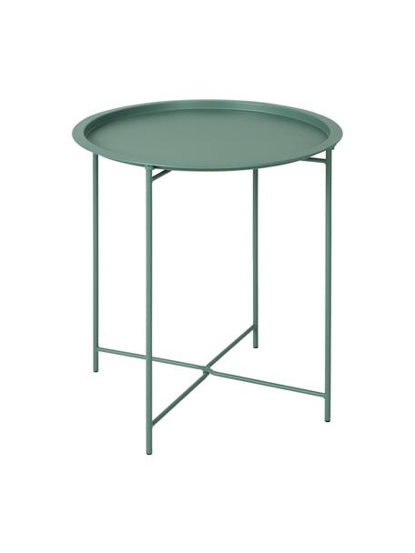 Stolik-taca z metalu Sangro, Metal malowany proszkowo, Zielony, Ø 46 x W 52 cm