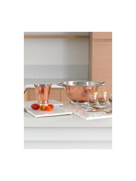 Küchensieb Tirana in Kupfer/Silber, Rostfreier Stahl, beschichtet, Kupferfarben, 30 x 13 cm