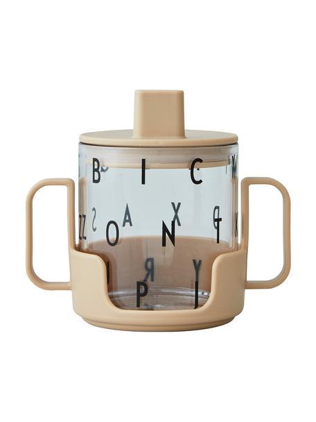 Kinderbecher Grow With Your Cup mit Halterung, Tritan, BPA-frei, Beige, Ø 7 x H 8 cm