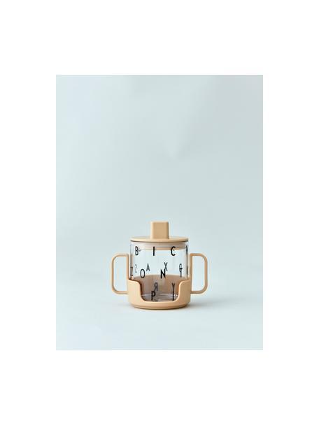 Vaso de transición con asas Grow With Your Cup, Libre de tritan y BPA, Beige, Ø 7 x Al 8 cm