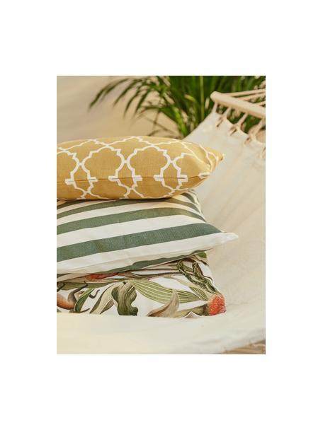 Federa arredo in cotone con motivo grafico Lana, 100% cotone, Giallo, bianco, Larg. 45 x Lung. 45 cm