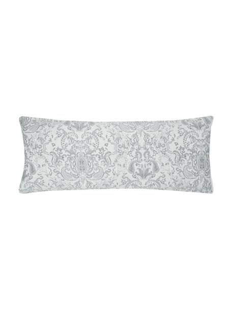 Funda de almohada de satén Grantham, 45x110cm, Gris claro, An 45 x L 110 cm