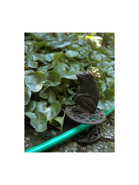 Tuinslanggeleider Frog, Gecoat metaal, Bruin, Ø 10 x H 33 cm