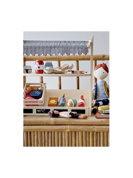 Set de juguetes Dix Food, 5pzas., Madera, Rojo, beige, marrón, An 15 x Al 10 cm