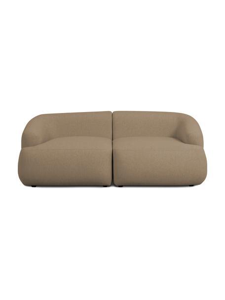 Modulares Sofa Sofia (2-Sitzer) in Braun, Bezug: 100% Polypropylen Der hoc, Gestell: Massives Kiefernholz, Spa, Füße: Kunststoff, Braun, B 192 x T 95 cm