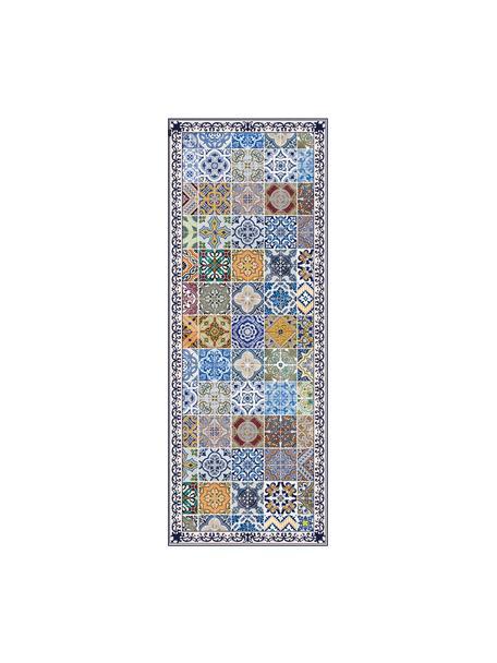 Tappetino piatto antiscivolo in vinile con stampa colorata Pablo, Vinile riciclabile, Multicolore, Larg. 68 x Lung. 180 cm