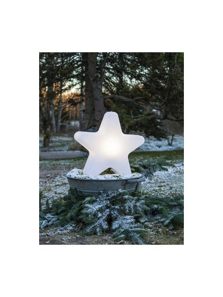 Vloerlamp Star met stekker, Lampenkap: kunststof, Wit, 46 x 50 cm