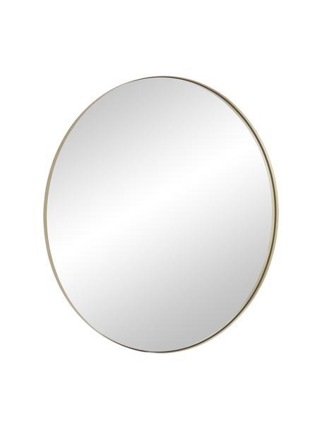Specchio rotondo da parete con cornice dorata Ivy, Cornice: metallo ottonato, Superficie dello specchio: lastra di vetro, Retro: pannello di fibra a media, Oro, Ø 100 cm