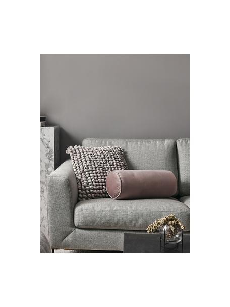 Bank Cucita (2-zits) in lichtgrijs met metalen poten, Bekleding: geweven stof (polyester) , Frame: massief grenenhout, Poten: gelakt metaal, Lichtgrijs, B 187 x D 94 cm
