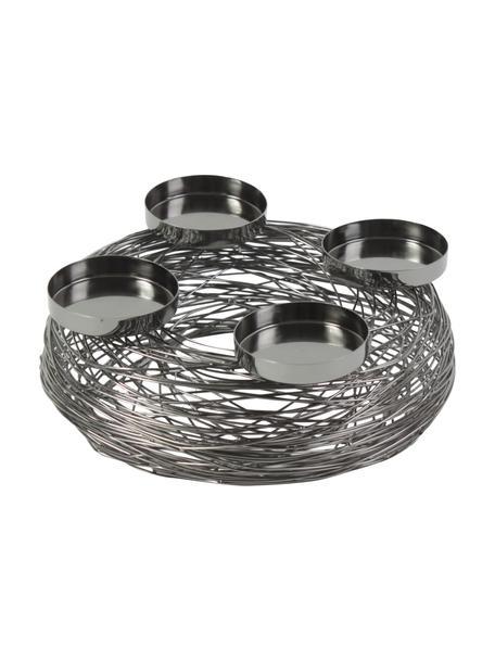 Adventskranz Tangle, Metall, Nickelschwarz, Ø 28 x H 11 cm