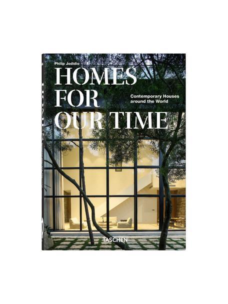 Geïllustreerd boek Homes for our Time, Papier, hardcover, Groen, multicolour, 16 x 22 cm