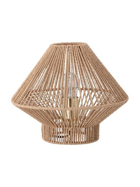 Kleine tafellamp Rapot van papier, Lampenkap: papier, Fitting: gecoat metaal, Beige, Ø 30 x H 25 cm