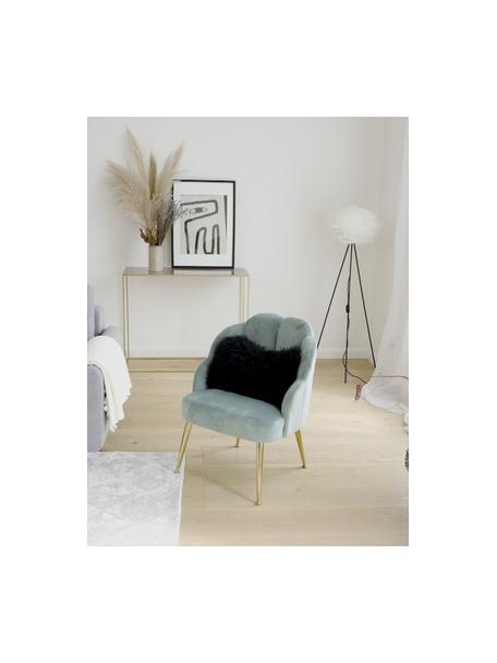 Fotel koktajlowy z aksamitu Helle, Tapicerka: aksamit (poliester) Dzięk, Nogi: metal malowany proszkowo, Aksamitny turkusowy, S 65 x G 65 cm