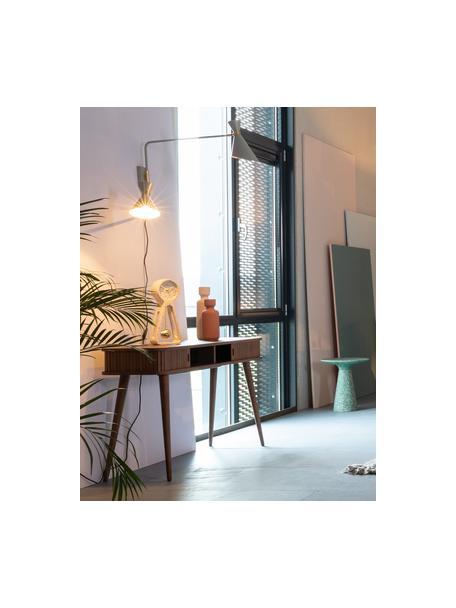 Konsola  z drewna z miejscem do przechowywania Barbier, Korpus: płyta pilśniowa średniej , Drewno orzechowe, S 120 x G 35 cm