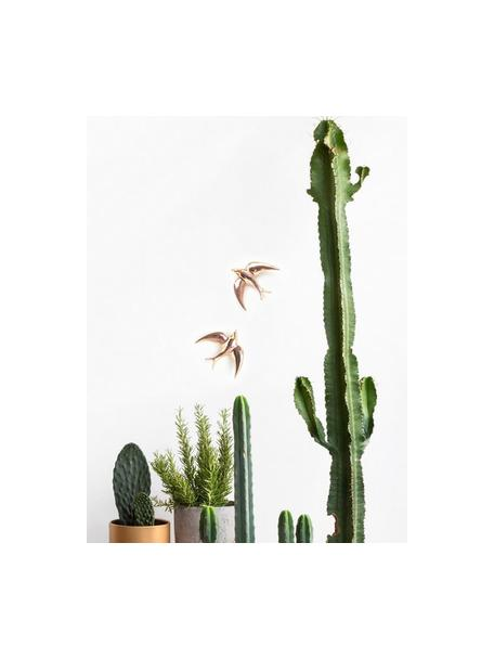 Set de decoraciones de pared Swallows, 2pzas., Porcelana, Dorado, An 11 x Al 11 cm