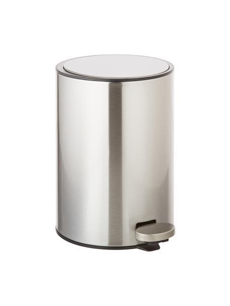 Abfalleimer Tenes mit Pedal-Funktion, Silber, Ø 19 x H 26 cm