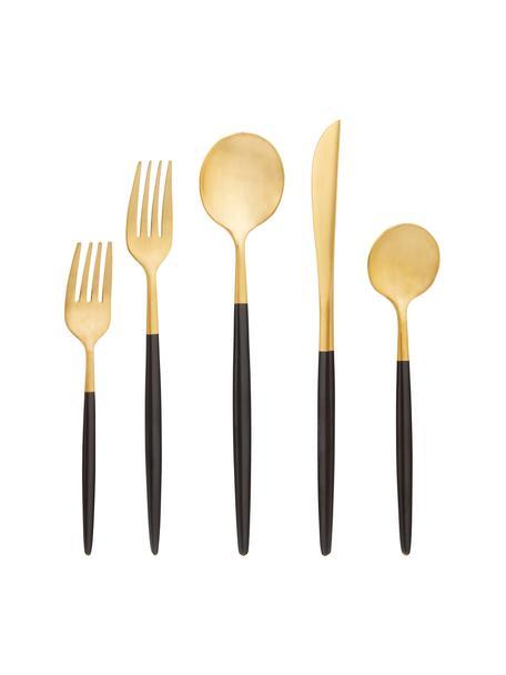 Set posate dorate in acciaio inossidabile Shimmer, 4 persone (20 pz), Coltello: acciaio inossidabile 13/0, Oro, 4 persone (20 pz)