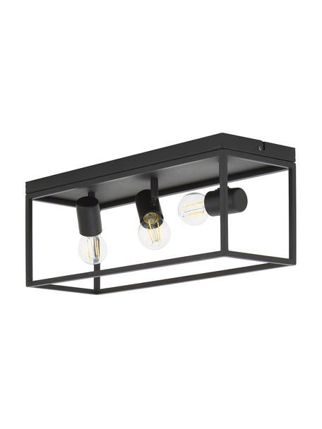 Lampa sufitowa w stylu industrial Silentina, Czarny, S 54 x W 21 cm
