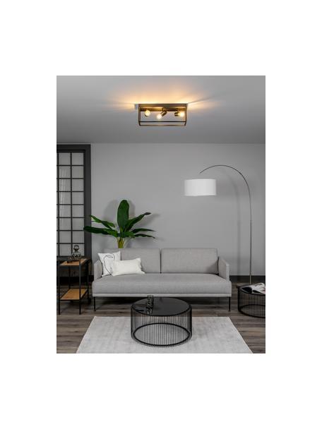 Plafondlamp Silentina in industrieel design, Zwart, 54 x 21 cm