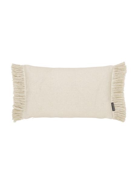 Poszewka na poduszkę z frędzlami Tine, Jasny beżowy, S 30 x D 50 cm