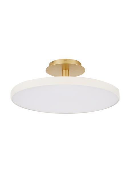 Große LED-Deckenleuchte Asteria, Lampenschirm: Aluminium, lackiert, Perlweiß, Goldfarben, Ø 60 x H 21 cm