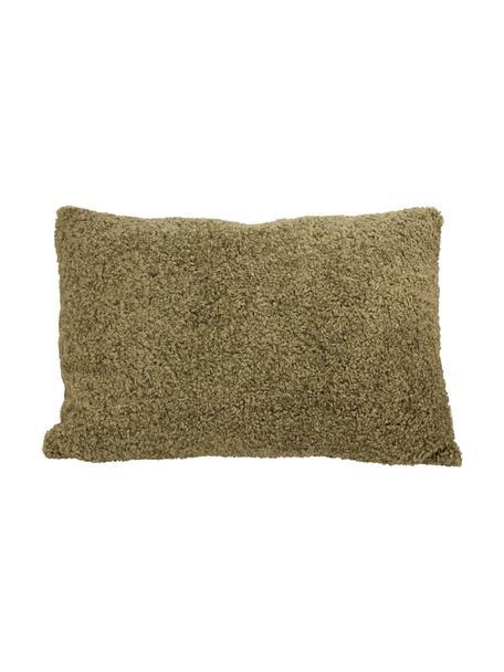 Puszysta poduszka z wypełnieniem Teddy, Zielony, S 40 x D 60 cm
