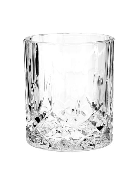 Bicchiere con rilievo in cristallo George 4 pz, Vetro, Trasparente, Ø 8 x Alt. 10 cm