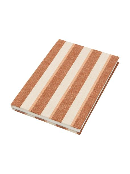 Notizbuch Cleo, Orange, Beige, 15 x 21 cm