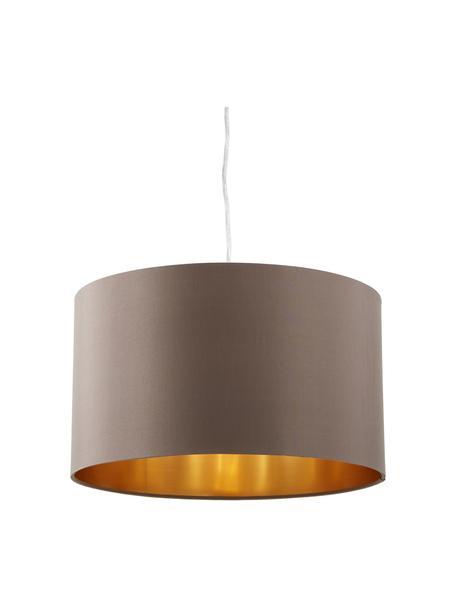 Hanglamp Jamie, Baldakijn: vernikkeld metaal, Fitting: vernikkeld metaal, Zilverkleurig, grijsbeige, Ø 38  x H 23 cm